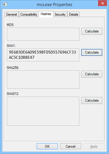 HashProp - a better way to MD5 (and SHA) in Windows - Arktronic com